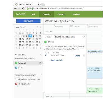 One Calendar.How Can I Share A Calendar Support One Com