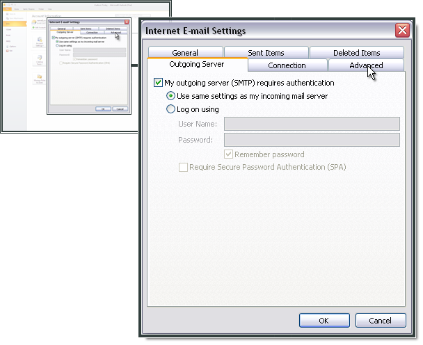Le serveur SMTP requiert une authentification