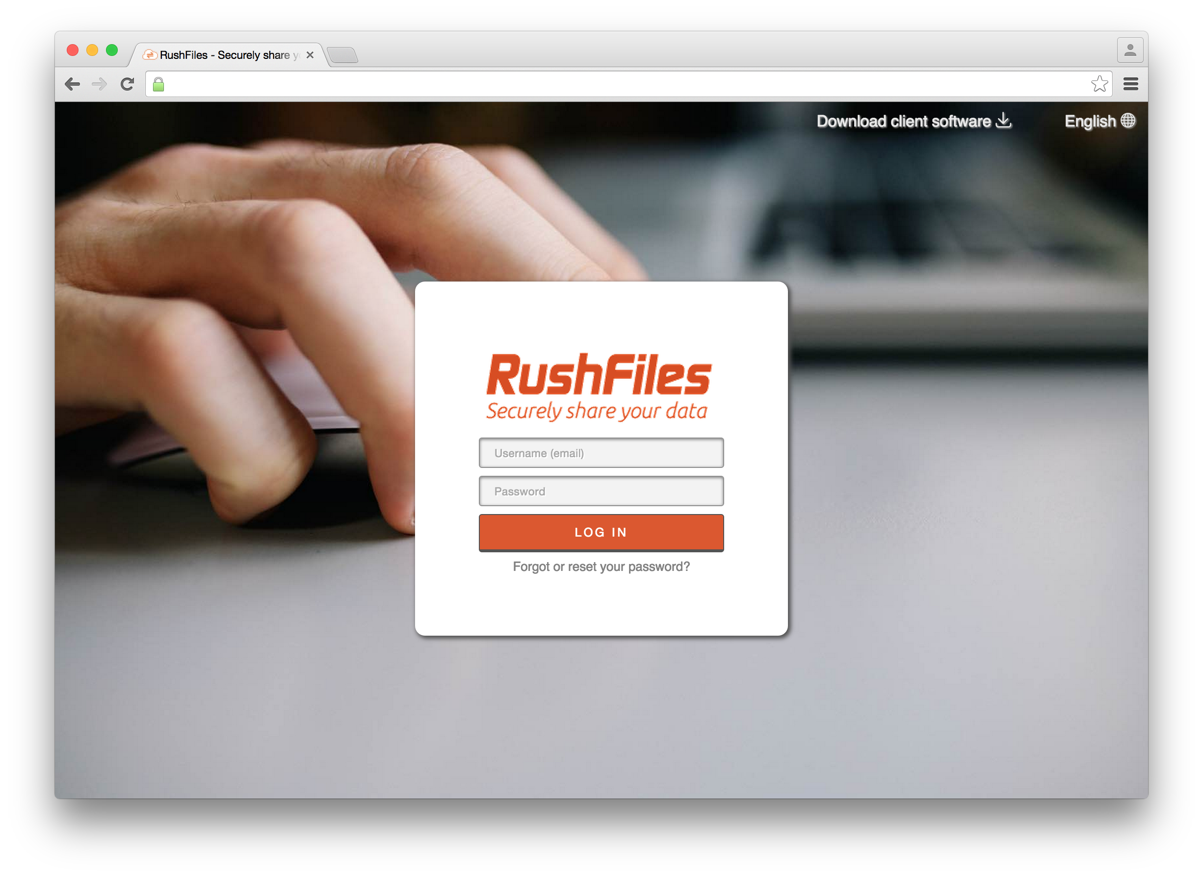 Log on your RushFiles account