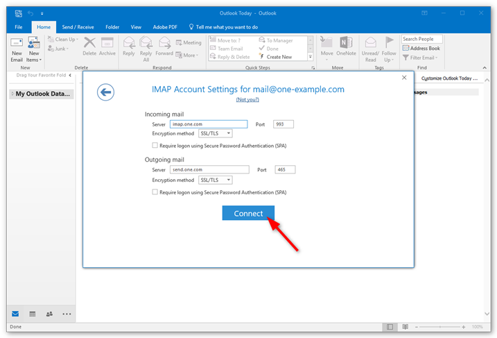 how to connect outlook 2016 to outlook com