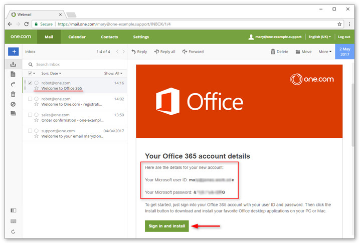 You Office 365 user is ready to use