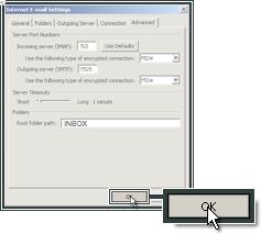 Continuer la mise en place d'un compte de messagerie Microsoft Outlook 2007.