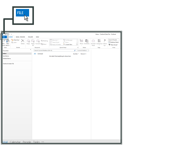 Open Outlook and select File
