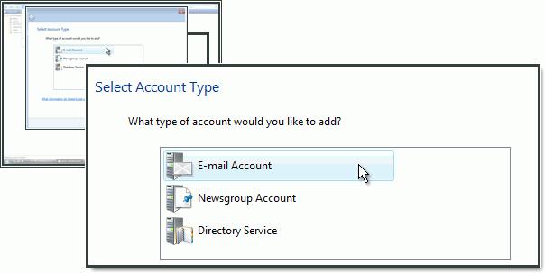 Výběr typu účtu